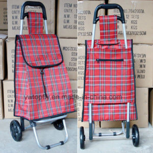 Lightweight Folded Trolley Bag on Wheel with PE Polyester Dxt-8097 pictures & photos