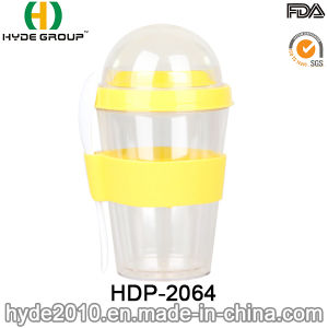 Eco-Friendly Double Wall Plastic Salad Shaker Cup (HDP-2064) pictures & photos