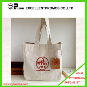 Customized Logo Printed Cotton Shopping Tote Bags (EP-B9098B) pictures & photos