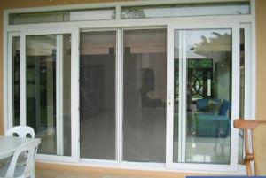 Wooden Grain Double Glazed Sliding Exterior Door pictures & photos