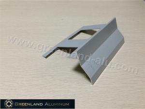 Aluminum Corner Trim Profile with Powder Coated Grey pictures & photos