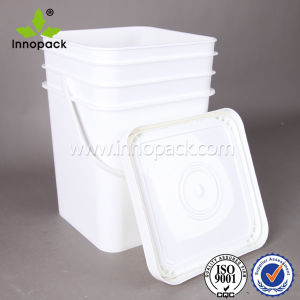 20L Plastic Square Bucket with Plastic Handle and Lid Sand Bucket pictures & photos