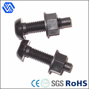 Grade 12.9 High Carbon Steel Black Plated Wheel Bolts and Nuts pictures & photos