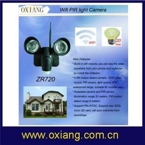 720p Outdoor Security PIR Wireless Camera with WiFi pictures & photos