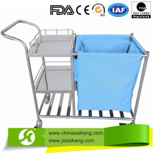 Hospital Medical Stainless Steel Dressing Trolley pictures & photos