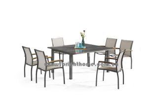 New Design Textilene Outdoor Dining Set pictures & photos