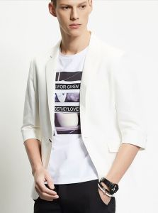 2016 Summer Linen Fabric Casual Men′s Jacket pictures & photos