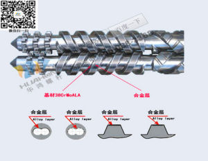 Conical Double Screw Barrel for PVC Pipes Production Live pictures & photos