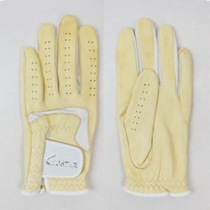Yellow Cabretta Golf Glove pictures & photos