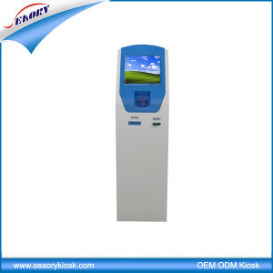 Cash Acceptor Ticket Issuing WiFi Touch Screen Kiosk Terminal Machine pictures & photos