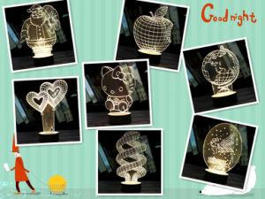 Plastic Base Import Korea Acrylic Plate 3D Visual LED Night Lights
