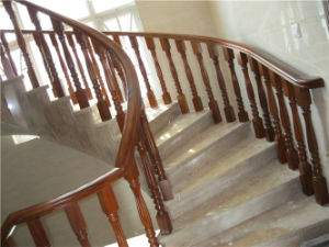 Modern Solid Wood Spiral Staircase Handrail pictures & photos
