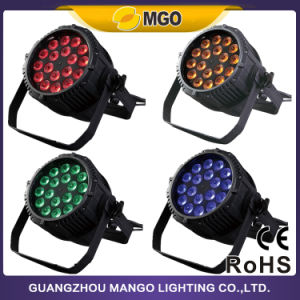 Disco Stage Party 18X18W Rgbwauv 6 in 1 Outdoor Zoom LED PAR Light