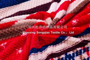 100% Polyester Jacquard Printed Flannel Blanket/ Honeycomb Printed Blanket pictures & photos