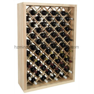 Store 58-Bottle Wood Floor Display Storage Red Wine Rack pictures & photos