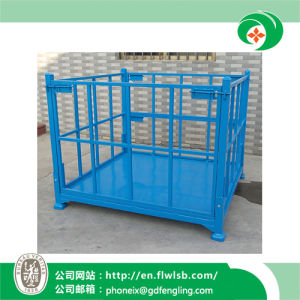 Foldable Steel Logistics Cage for Transportation by Forkfit pictures & photos