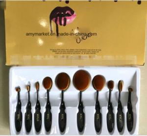 Kylie Multipurpose Toothbrush Style Cosmetic Brush 10 PCS/Set Makeup Brush Set pictures & photos