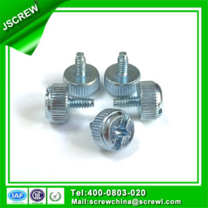 Carbon Steel 6mm Round Head Customized Knurl Thumb Screw pictures & photos