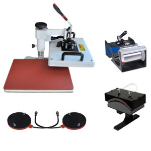 5 in 1 Sublimation Mug T-Shirt Heat Press Transfer Printing Machine for Sales pictures & photos