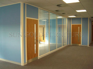 Classic Office/Hotel/Hospital/School Aluminium Full Height Wooden Glass Partitions Divider (SZ-WS681) pictures & photos
