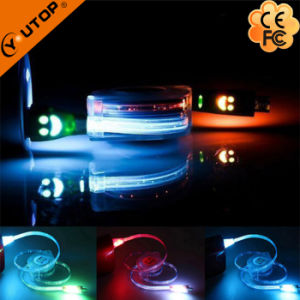 LED Light Smile USB Charging Data Cable for Andriod Mobilephone pictures & photos