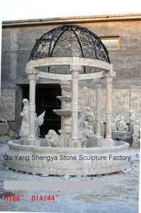 Marble Gazebo Fountain Stone Gazebo Mf-026 pictures & photos
