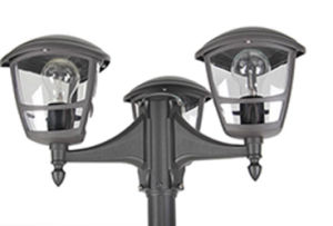 E27 Ce/RoHS Outdoor Post Triple Light pictures & photos