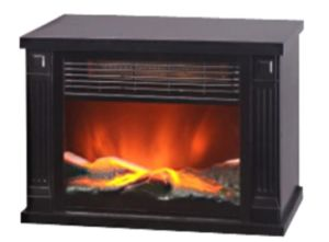 Electric Fireplace Heater with LED Flame