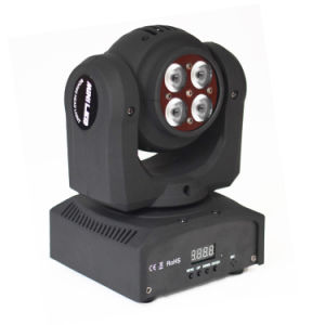 Party Disco DMX 512 RGBW 4 In1 LED Two Face Mini Moving Head Light pictures & photos