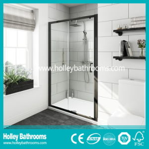 Aluminium Pivot Shower Sliding Door with Tempered Laminated Glass (SE939C)