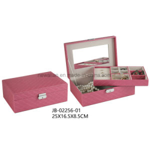 Sweet Design Pink Leather Jewelry Gift Box Jewelry Box