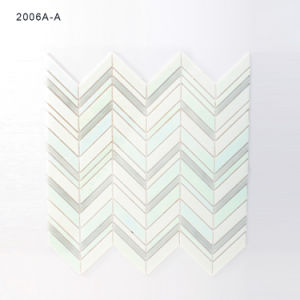 Building Material Bathroom Floor Tile White Glass Mosaic pictures & photos