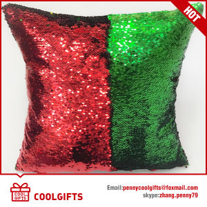 New Double Sided Glitter Sofa Cushion, Cover Reversible Sequin Mermaid Pillow pictures & photos