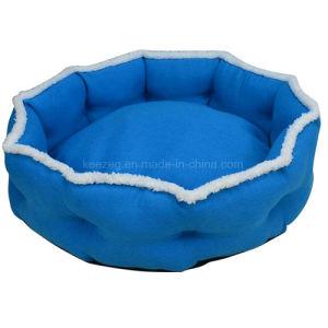 Blue/Red Circular Super Soft Dog Bed Cat Bed House. /Pet Mat (KA0090) pictures & photos