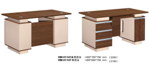 Simple Office Computer Desk with Two Side Cabinet pictures & photos