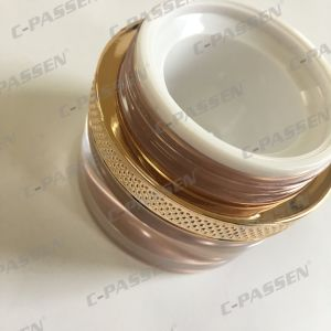 50g Rose-Gold Round Acrylic Cream Jar for Cosmetic Packaging (PPC-ACJ-113) pictures & photos