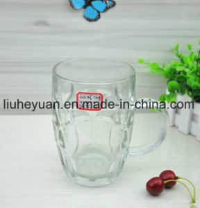Discount Handle Glass Beer Mug pictures & photos