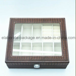Kingly Handmade Croco Leather Jewelry Box Wholesale Jewelry Packing Box pictures & photos