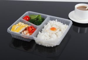 3 Compartment Disposable Takeaway Food Container for Wholesale pictures & photos