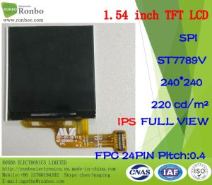 1.54 Inch IPS 240X240 Spi Customized Smart Wristband TFT LCD Display pictures & photos