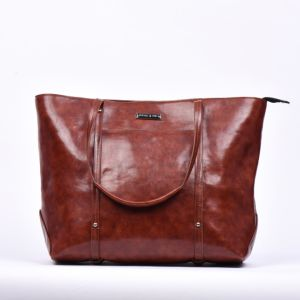 Elegant Oil Wax Genuine Leather Tote Bag pictures & photos