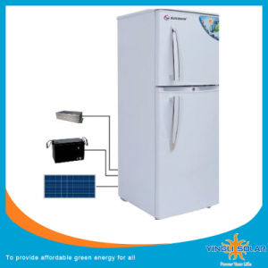 China Low Price Solar Power Refrigertator Deep Solar Freezer with Gel Battery pictures & photos