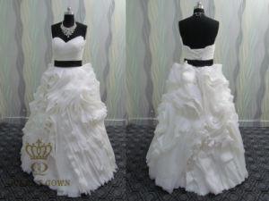 Princess Wedding Dresses/Organza Bridal off Shoulder Dress pictures & photos
