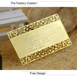 Copper Material Corrosion Process of Metal Business Card pictures & photos