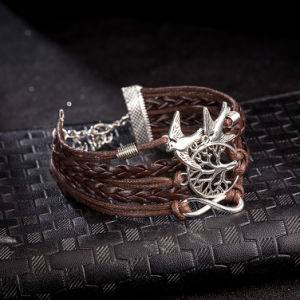 Braided Tree of Life Alloy Leather Bracelets with Lobster Clasp pictures & photos