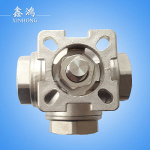 Stainless Steel Three-Way with Mounting Pad Ball Valve Dn15 pictures & photos