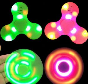 Factory Wireless Bluetooth Speaker Fidget Spinner with LED Light pictures & photos