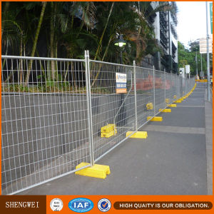 Temporary Construction Fence Panel Stands Concrete pictures & photos