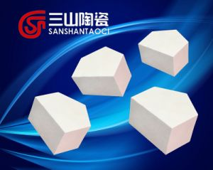 99 Al2O3 Thick Hexagonal Half-Chip Alumina Ceramics pictures & photos