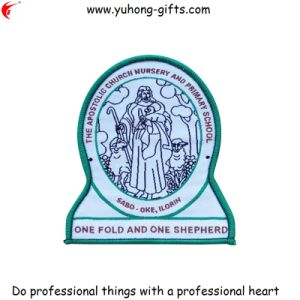 2014 Fashionable Woven School Badge for Clothing (YH-EB067) pictures & photos